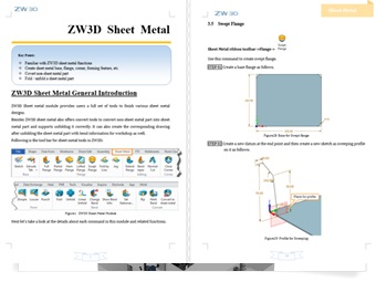 ZW3D CAD/CAM 2D Sheet Tutorial